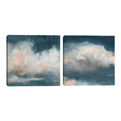 Cloud Abstraction I & II By Bill Maeves Wall Art 2 Piece