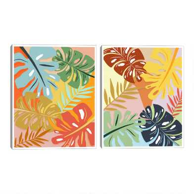 Terracotta Tropics I & II By Sammie Ray Wall Art 2 Piece