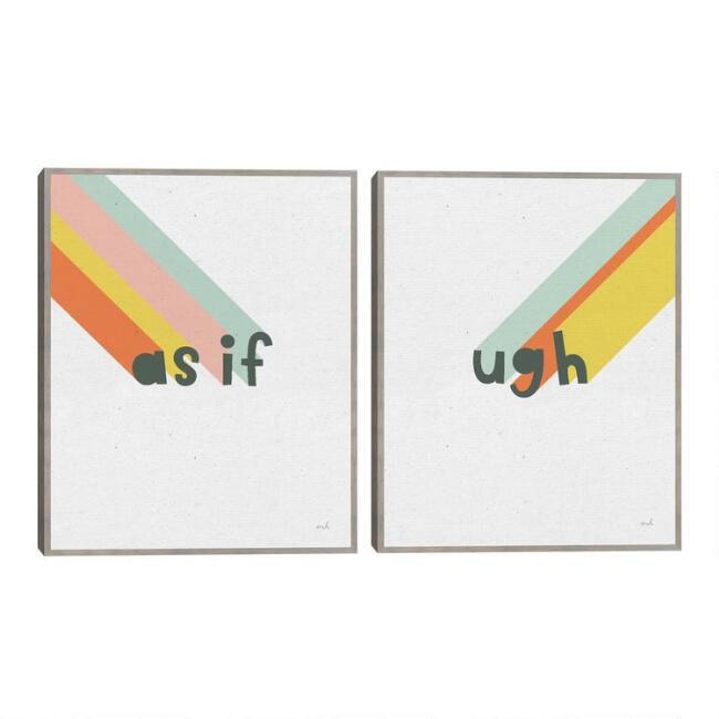 Rainbow Words I & II By Moira Hershey Wall Art 2 Piece