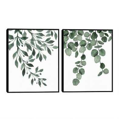 Botanical Sage I & II By Gigi Conrad Framed Wall Art 2 Piece