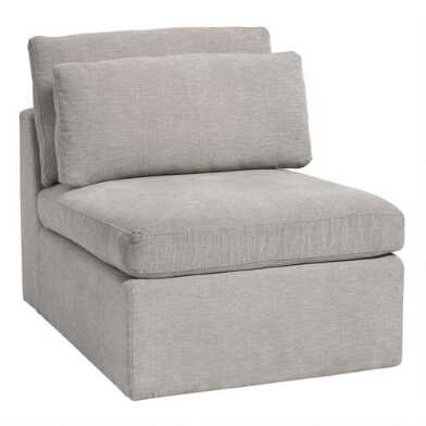 Gray Emmett Modular Sectional Armless Chair
