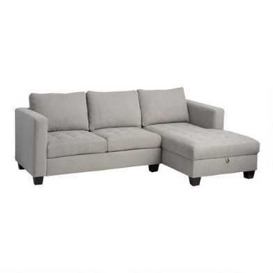 Right Facing Trudeau Sectional Sofa With Storage