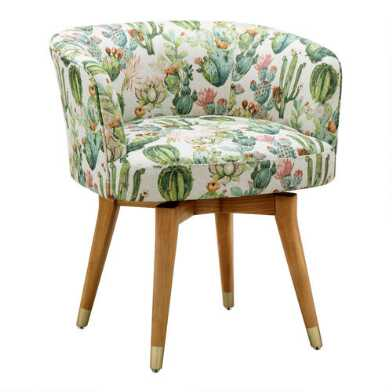 Vanessa Upholstered Swivel Chair