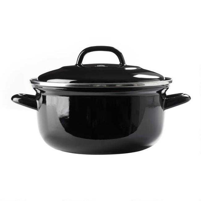BK Black Enamel Carbon Steel Dutch Oven