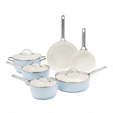 GreenPan Padova 10 Piece Nonstick Ceramic Cookware Set