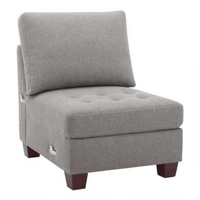 Gray Trudeau Armless Chair