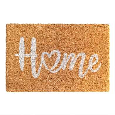 Home With a Heart Coir Doormat
