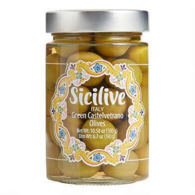 Sicilive Green Castelvetrano Olives