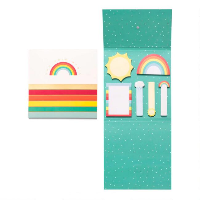Rainbow Own Your Magic Die Cut Sticky Notes