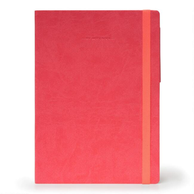 Coral Vegan Leather Journal