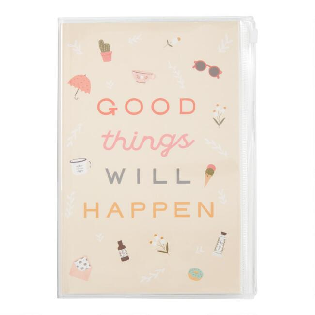 Good Things Will Happen Pencil Pouch Journal