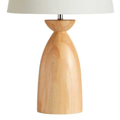 Natural Mango Wood Table Lamp Base