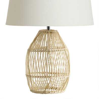Natural Open Weave Bamboo Table Lamp Base