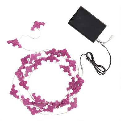 Purple Bats Micro LED 25 Bulb Battery Operated String Lights