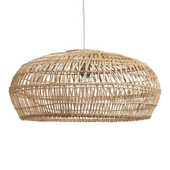 Bamboo Open Weave Orb Pendant Shade