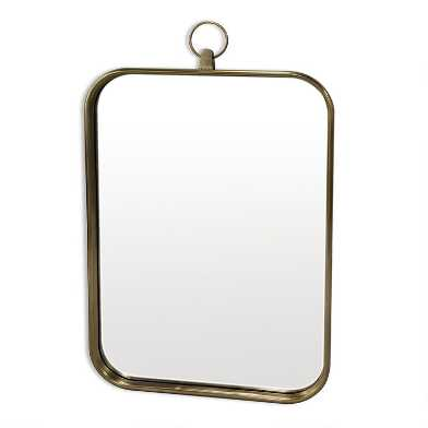 Rectangular Brass Loop Mirror