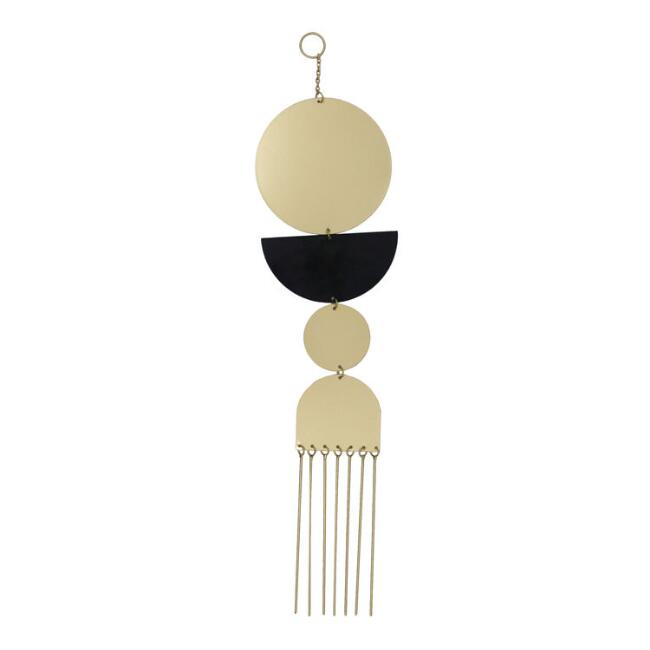 Black And Gold Metal Geo Shapes Wall Hanging