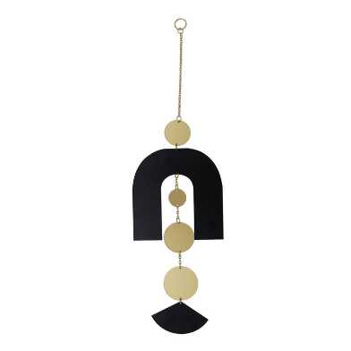 Black And Gold Metal Arched Geo Wall Hanging