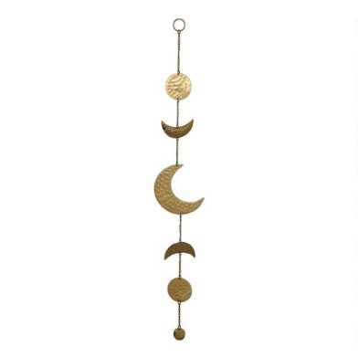 Gold Metal Moon Phases Hanging Decor