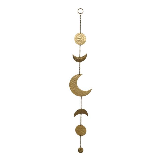 Gold Metal Moon Phases Wall Hanging