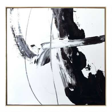 Black And White II Framed Canvas Wall Art