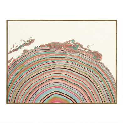 Multicolor Hemisphere By Pernille Snedker Framed Wall Art