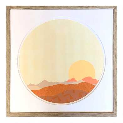 Sun And Mountains Framed Wall Art