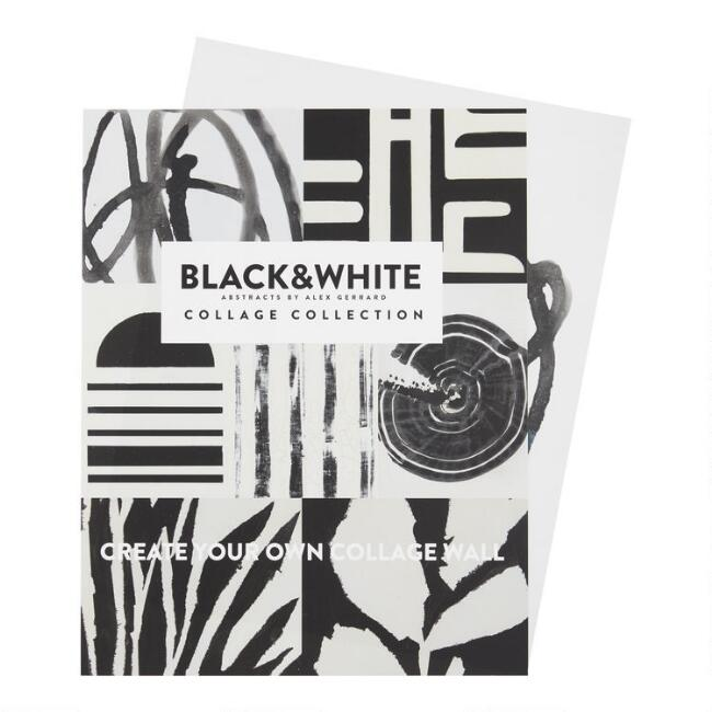 Black And White Abstract Wall Art Prints 7 Piece