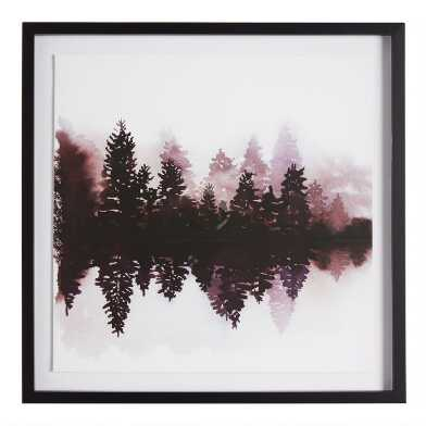 Forest Reflection Framed Wall Art