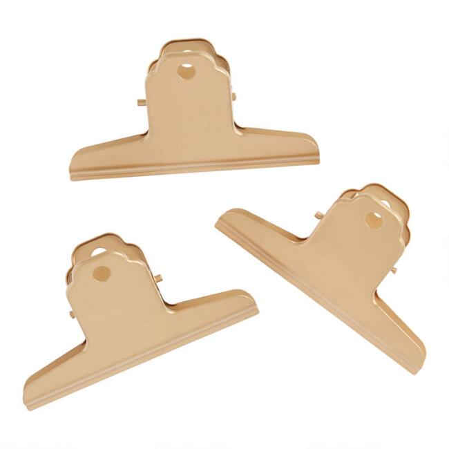Large Gold Gallery Wall Clips 3 Pack