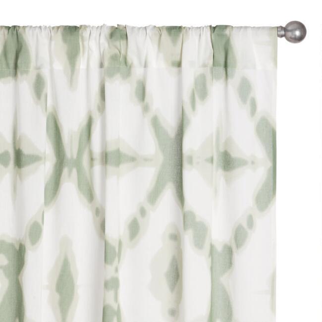 Cotton Voile Sleeve Top Curtains Set Of 2