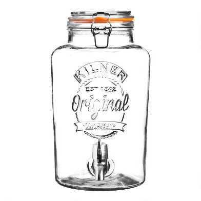Kilner 2 Gallon Glass Clamp Lid Drink Dispenser