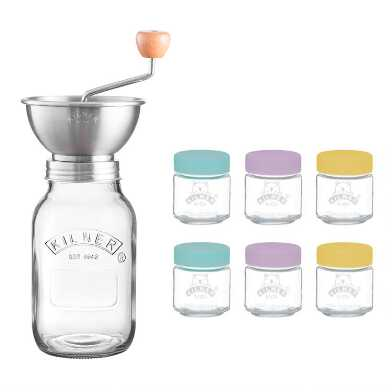 Kilner Glass Jar Homemade Baby Food and Sauce Press Set