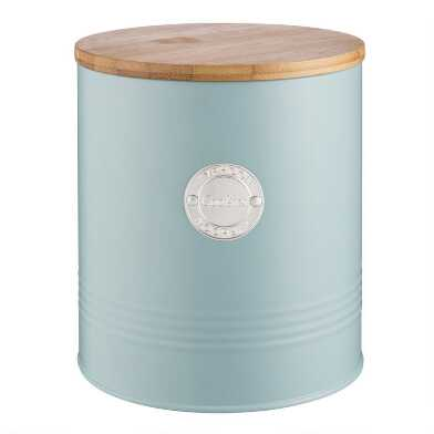 Typhoon Living Steel Cookie Jar with Bamboo Lid