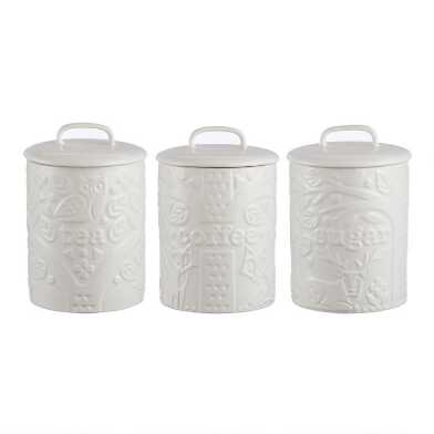 Mason Cash Cream In the Forest Coffee, Tea and Sugar Jar Set