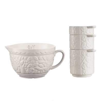 Mason Cash Cream In the Forest Measuring Jug and Cups Set