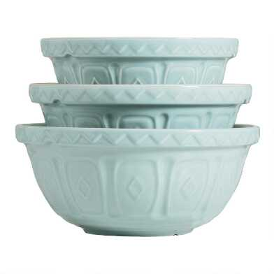 Mason Cash Powder Blue Color Mix Mixing Bowl