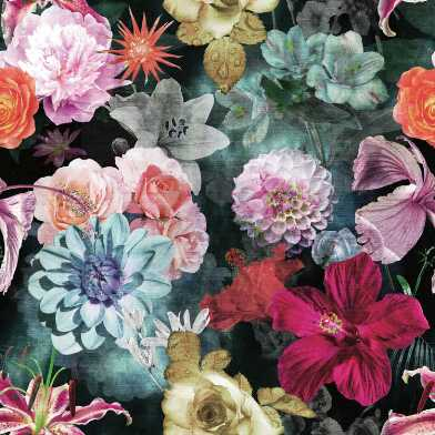 Multicolor Vintage Blooms Peel And Stick Wallpaper