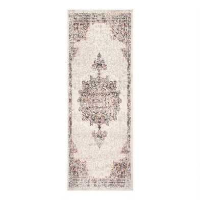 Beige and Tan Medallion Catherine Floor Runner