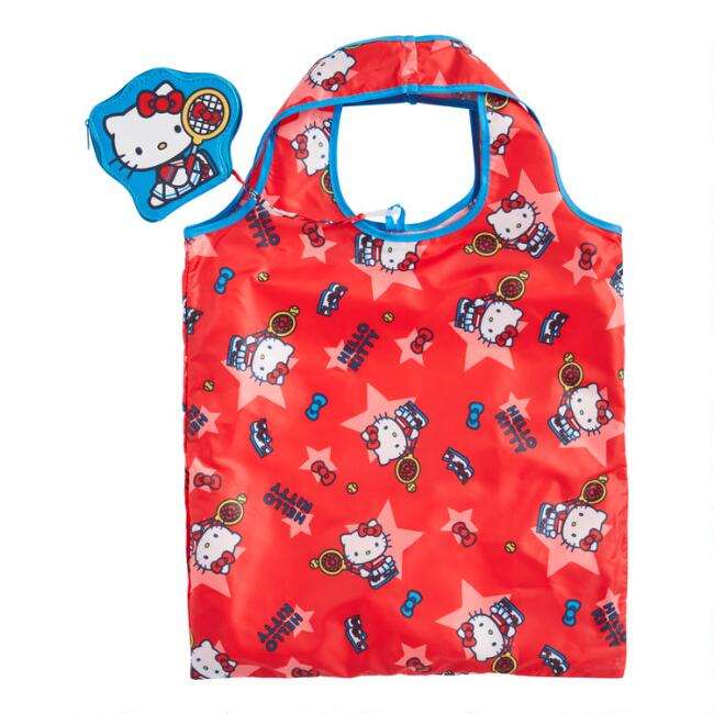 Hello Kitty Sports Foldable Tote Bag