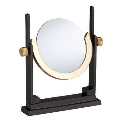 Brass Magnifying Glass on Wood Stand