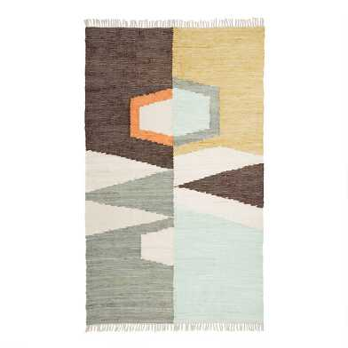 Modern Abstract Woven Cotton Caleb Area Rug
