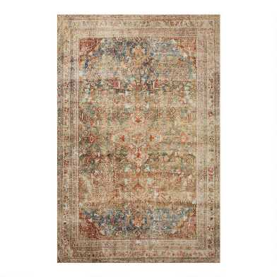 Green Distressed Persian Style Zelda Floor Runner