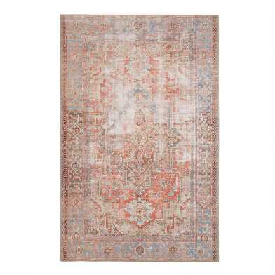 Terracotta Distressed Persian Style Lauren Area Rug