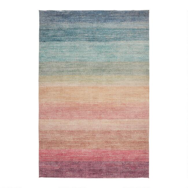 Multicolor Ombre Rainbow Area Rug