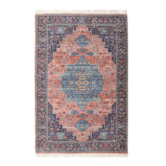 Multicolor Persian Style Jute and Chenille Amelia Area Rug