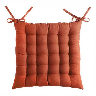 Ginger Orange Dasutti Chair Cushion