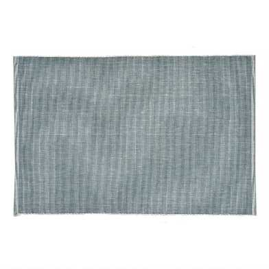 Distressed Teal Ribbed Placemats Set of 4