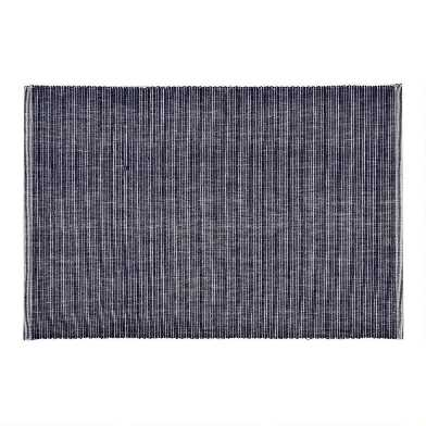 Distressed Blue Ribbed Placemats Set of 4