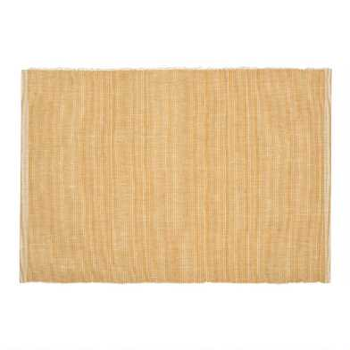 Distressed Gold Ribbed Placemat Set of 4